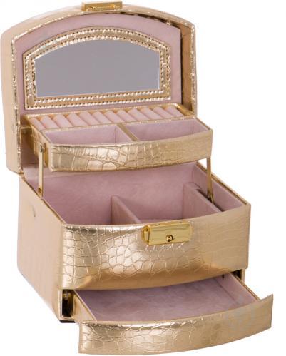 Шкатулка для украшений 2781 золотая - фото 3