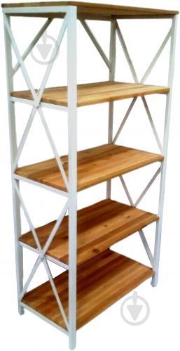 Этажерка LEVOR Wood Лофт на 5 полок 1520x750x400 мм белый - фото 1