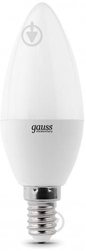 Лампа светодиодная Gauss Elementary 6 Вт C37 матовая E14 220 В 4100 К 33126