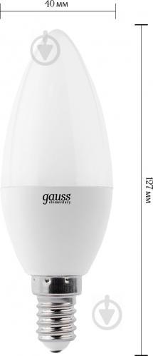 Лампа светодиодная Gauss Elementary 6 Вт C37 матовая E14 220 В 4100 К 33126 - фото 2