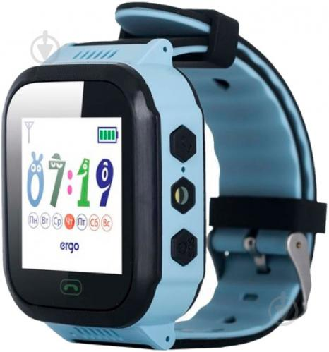 Смарт-часы Ergo GPS Tracker Color J020 детский трекер blue (GPSJ020B) - фото 1