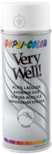 Эмаль аэрозольная Dupli-Color Very Well RAL 9003 сигнально-белый глянец 400 мл