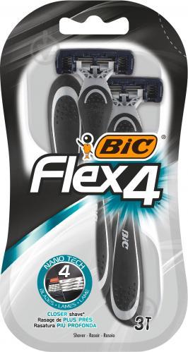 Одноразові бритви BIC ФЛЕКС 4 БЛ3 3 шт.