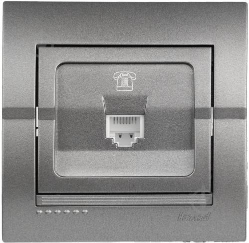 Розетка телефонная Lezard Lezard Deriy TF-евро темно-серый металлик  702-2929- 28dd0cad612
