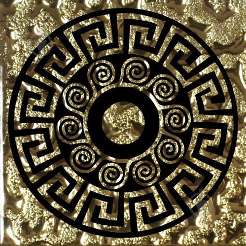 Плитка Grand Kerama Тако скло Греція золото рифлене 961 6,6x6,6 - фото 1