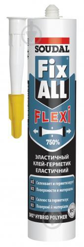 Клей-герметик SOUDAL FIX ALL FLEXI 290мл белый - фото 1