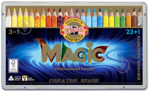 Карандаши цветные Magic 23 шт. + блендер Koh-i-Noor - фото 1