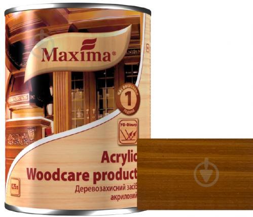 Декоративное и защитное средство для древесины Maxima акриловое ореховое дерево глянец 0,75 л - фото 1
