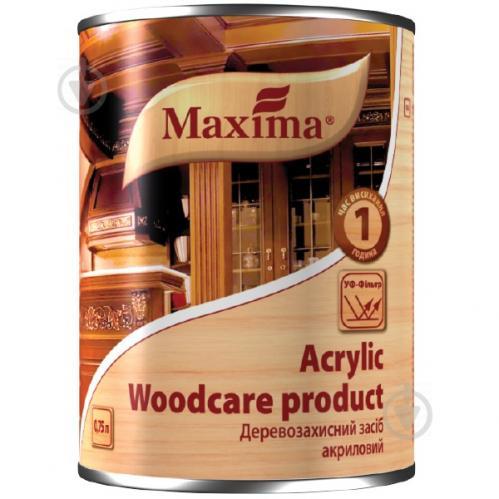 Декоративное и защитное средство для древесины Maxima акриловое дуб глянец 0,75 л - фото 2