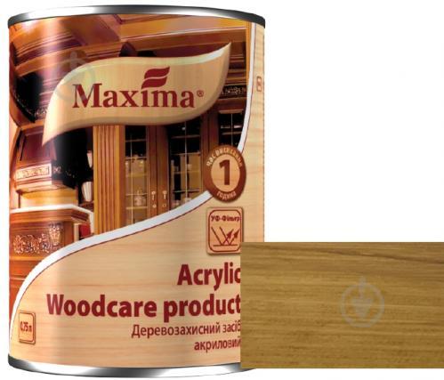 Декоративное и защитное средство для древесины Maxima акриловое дуб глянец 0,75 л - фото 1