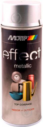 Краска аэрозольная Motip Deco Effect с эффектом металлик серебряный 400 мл