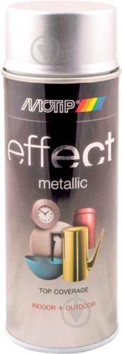 Краска аэрозольная Motip Deco Effect с эффектом металлик сияющий серебряный 400 мл