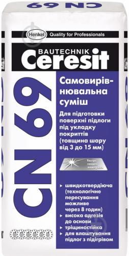 Самовирівнювальна підлога Ceresit CN 69 25 кг