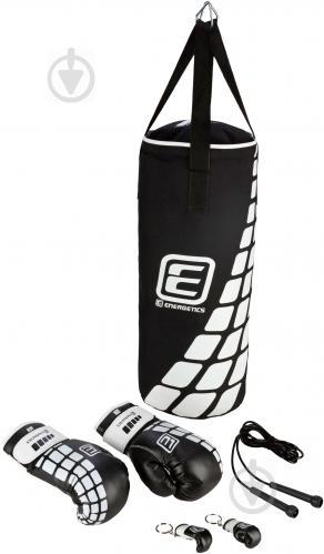 Дитячий боксерський набір Energetics 60x25 см 225506 Boxing Set Junior чорний із білим