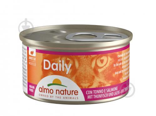 Консерва Almo Nature Daily Menu Cat з тунцем і лососем 85 г - фото 1