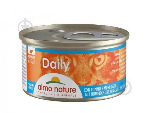 Консерва Almo Nature Daily Menu Cat з тунцем і тріскою 85 г - фото 1