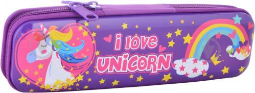 Пенал металевий Unicorn YES фіолетовий - фото 1
