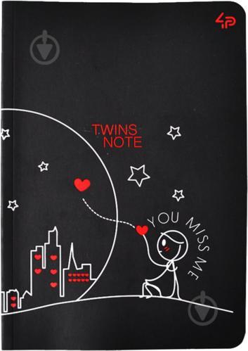 Блокнот Twins series miss you А6 40 арк. Profiplan - фото 1