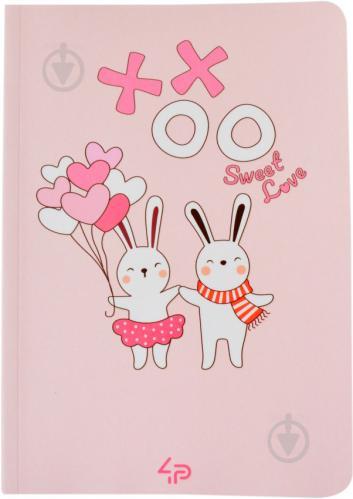 Блокнот Sweet love note rebbits А6 40 арк. Profiplan - фото 1