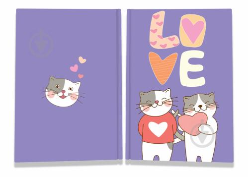 Блокнот Sweet love note cats А6 40 арк. Profiplan - фото 1
