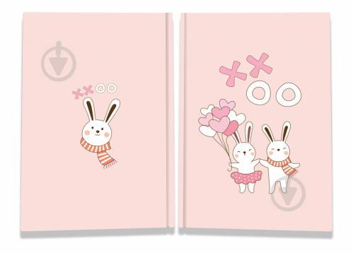 Блокнот Sweet love note rebbits А5 40 арк. Profiplan - фото 1