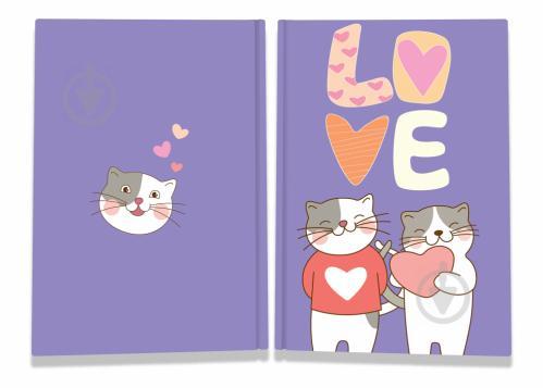 Блокнот Sweet love note cats А5 40 арк. Profiplan - фото 1