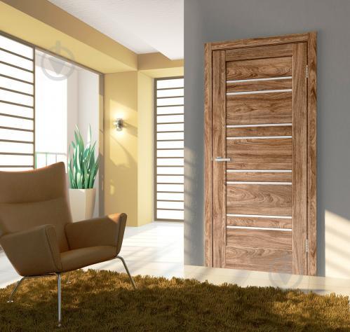 Дверное полотно ламинированное ОМиС Rino 01 G ПО 600 мм дуб ориндж - фото 2