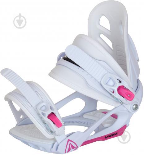 Крепеж для сноуборда р. S бело-розовый Firefly 195242