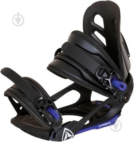 Крепеж для сноуборда р. S черно-голубой Firefly 195242
