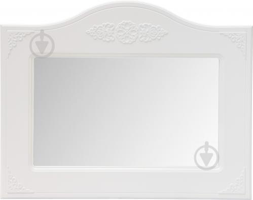 Зеркало Санти Мебель Белль АС-8 1000x800 мм белое дерево - фото 1