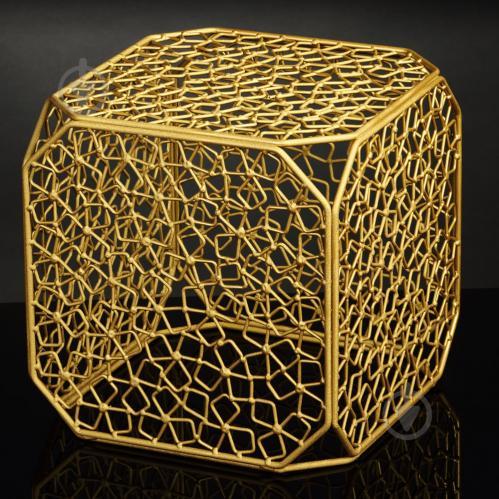Подставка декоративная Куб №6 А золото 350x350x350мм TRID HOUSE - фото 1
