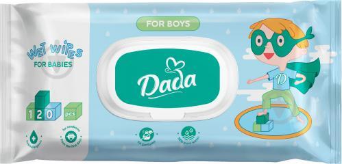 Детские влажные салфетки Dada для мальчиков без запаха 120 шт. - фото 1