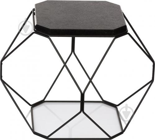Стол журнальный Многогранник №2 черный гранит/черный 360x360x380мм TRID HOUSE - фото 1