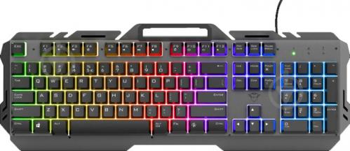 Клавіатура Trust GXT 853 Esca Metal USB (23796) black - фото 1