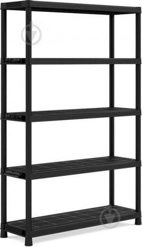 Стелаж пластиковий універсальний Keter Plus Shelf 120/5 1870x1200x400 мм чорний - фото 1