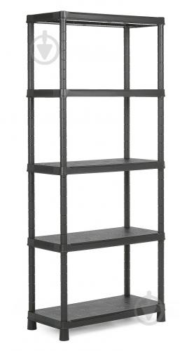 Стелаж пластиковий універсальний Keter Plus Shelf 80/5 1870x800x400 мм чорний - фото 1