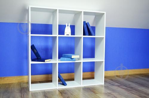 Стелаж Inteo в дитячу кімнату Кубус 3х3 (16 мм) 1078x1078x290 мм білий - фото 1