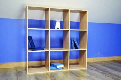 Полиця Inteo для книг Кубус 3х3 (16 мм) 1078x1078x290 мм дуб сонома - фото 1