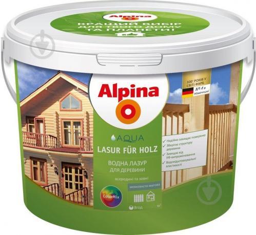 Лазурь Alpina AQUA LASUR FUR HOLZ шелковистый мат 0,75 л - фото 1