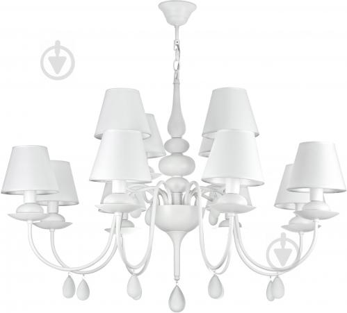 Люстра підвісна Victoria Lighting 12x40 Вт E14 білий Belladonna