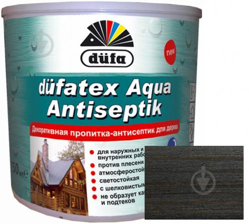 Пропитка Dufa dufatex Aqua Antiseptik венге шелковистый глянец 0,75 л - фото 1