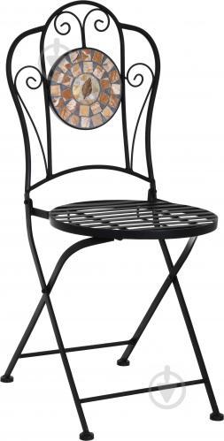 Стул металлический Indigo Палермо с покрытием мозаика черный - фото 1