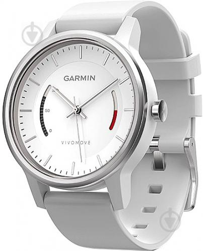 ᐉ Смарт-годинник Garmin Vivomove Sport with Sport Band white ... f9242fce09ce5