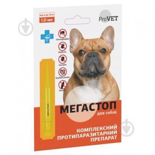 Краплі Природа на холку для собак ProVET «Мега Стоп» від 4 до 10 кг PR241744 - фото 1