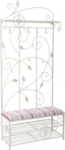 Вешалка для одежды Метал Арт 28059/б пристенная Мимоза белый - фото 1