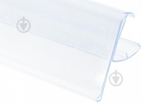 Планка ценовая КМ открытая прозрачная упаковка № 12 - фото 1