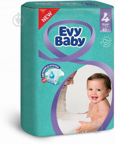 Підгузки Evy Baby економ упаковка 4 7-18 кг 40 шт.