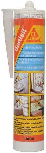Герметик силиконовый Sika Sanisil санитарный прозрачный 300 мл - фото 1