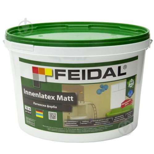 Краска латексная Feidal Innenlatex Matt глубокий мат белый 10л - фото 1