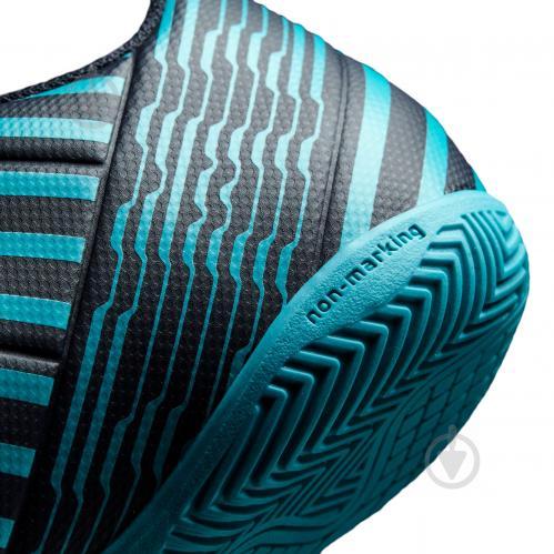 Футбольные бутсы Adidas Nemeziz IN S82472 р. 10 черно-синий с зеленым - фото 8